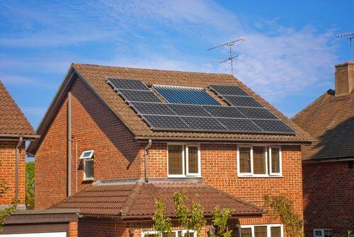 Oppervlakte voor het dak voor zonnepanelen